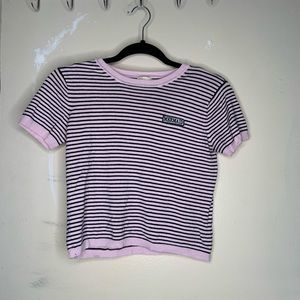 FOREVER 21 CONTEMPORARY CROPPED T SHIRT